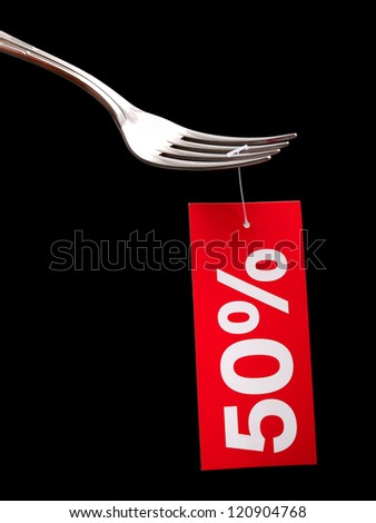 Conceptual image about discounts at restaurants...