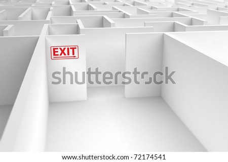 Conceptual image displaying the risk of a faulty exit strategy