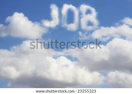 Conceptual image - dream of job