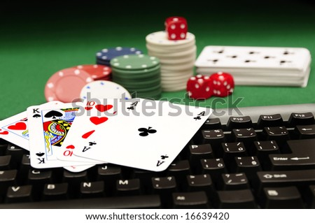 conceptual image for online gambling