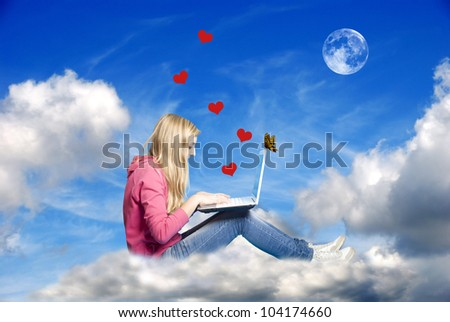 conceptual image for the modern, internet era romance