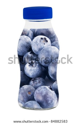 Conceptual image - fresh juice fruits