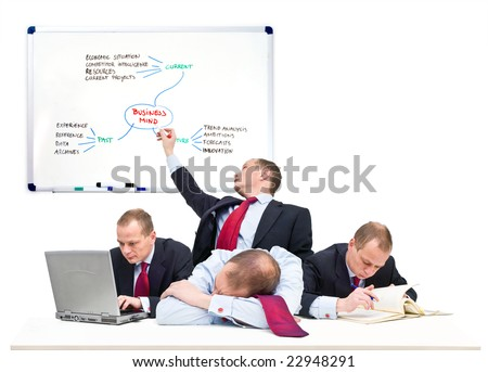 Conceptual image of a one-man business team, representative of being self employed