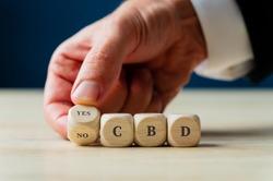 Conceptual image of CBD legalization and use.