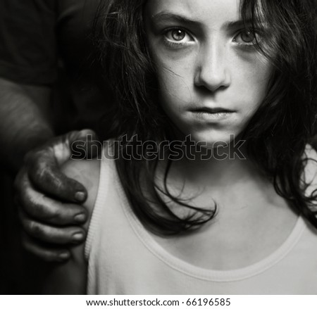 Conceptual image of child abuse, similar available in my portfolio
