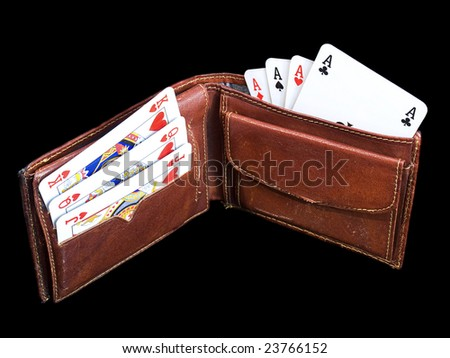 Conceptual image of gambler's financial life.