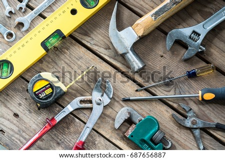Conceptual image of hardware tools. #687656887