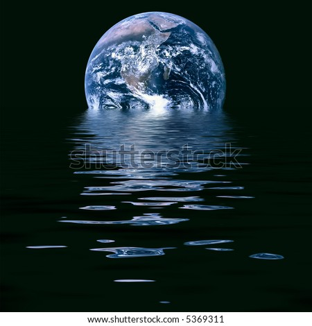 Conceptual image of melting earth symbolic of global warming and climate change. Source image courtesy of NASA