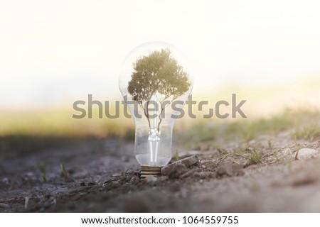 conceptual image of renewable energy #1064559755