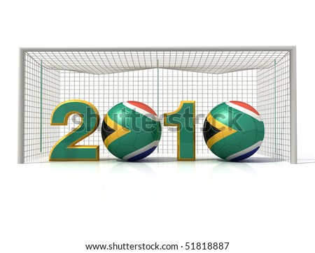 conceptual image of south africa soccer world cup -rendering