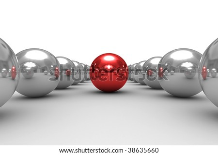 Conceptual image of teamwork. Isolated 3D image.