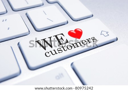 Conceptual image supporting a mindset of supporting customers and customer service.