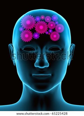 Conceptual image - thought process. 3d