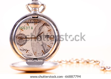 Conceptual of Image of Time is Money - stock photo