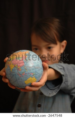 Conceptual of we borrow the world from our children