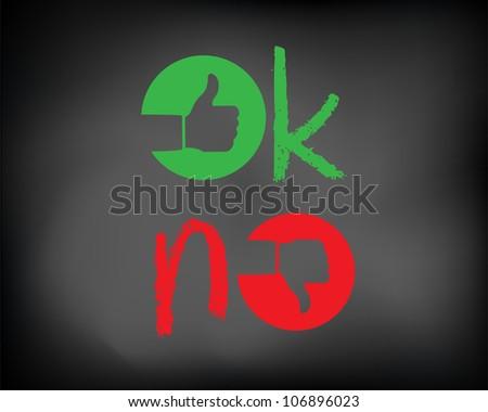 Conceptual ok, no symbol signs on black chalkboard