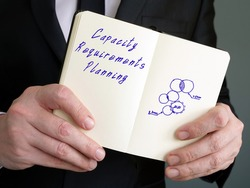 Conceptual photo about Capacity Requirements Planning (CRP) with handwritten phrase.