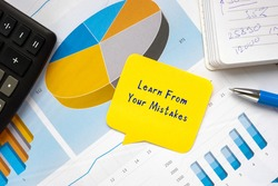 Conceptual photo about Learn From Your Mistakes with handwritten phrase.