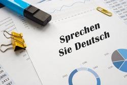 Conceptual photo about Sprechen Sie Deutsch with written phrase.