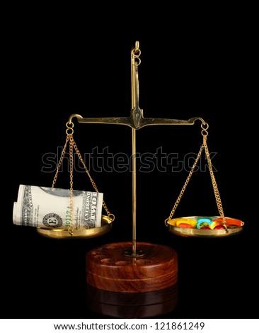 Conceptual photo: high cost of medicine