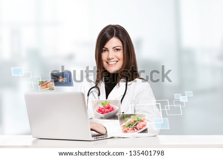 Shutterstock conceptual photo of a female nutritionist