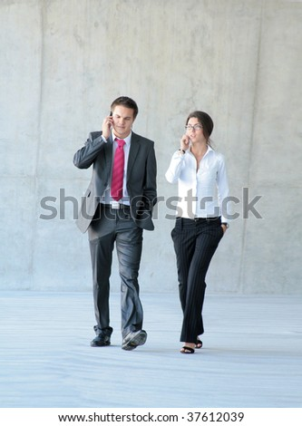 Conceptual photo of business couple