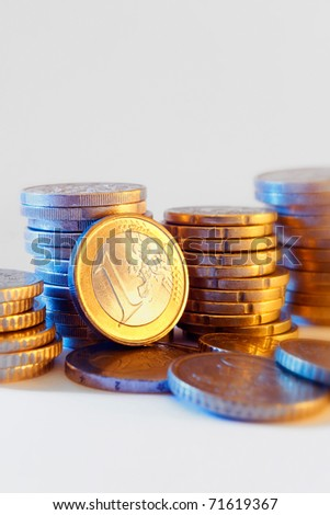 Conceptual  photo of money, with rich colors and lighting. Great for finance, business and economy themes.