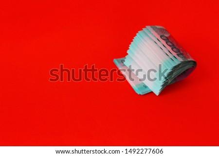 Conceptual Photograph of peso bills
