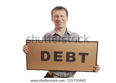 Conceptual photography, humans have financial problems.