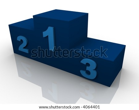 Conceptual picture - podium in 3D, winning concept.