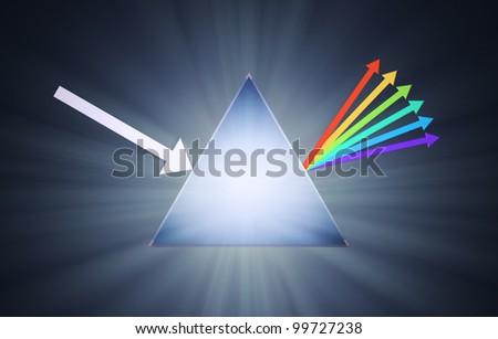 Conceptual prism illustration - creativity concept