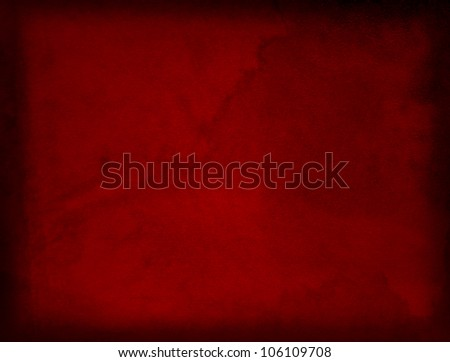 Conceptual red old paper background, made of grungy or vintage texture stained or dirty surface ideal for holiday, Christmas or retro designs