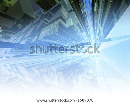 Conceptual spacey background