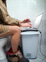 Conceptual view of  an internet addict during
