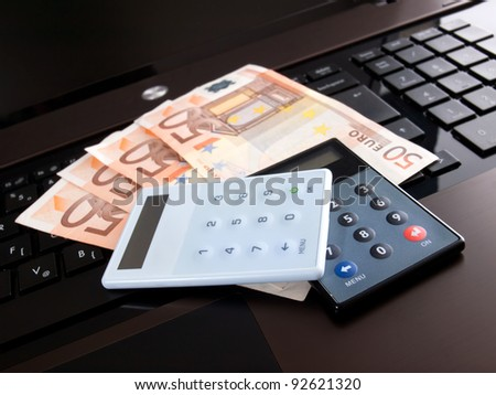 Conceptual view of everything you need for internet banking and online financial transactions.