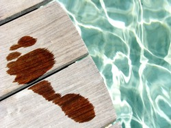 Conceptual wet woman footprint in a spa area / wellness, healthy, relaxing or vacations concepts