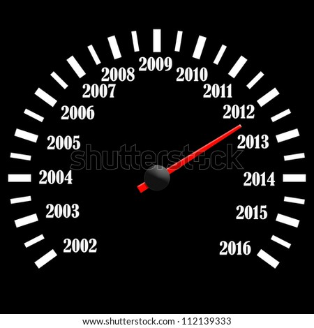 Conceptual 2013 year speedometer