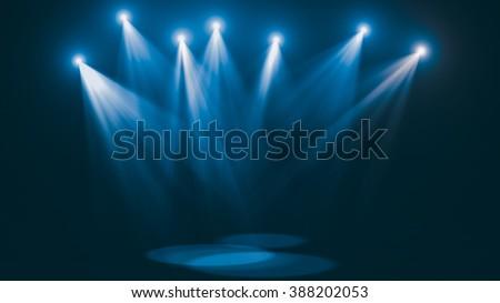 concert cold blue lights  super ...