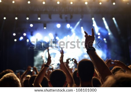 Concert crowd - stock photo