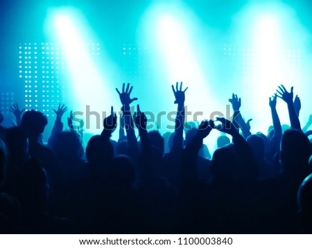 Concert Crowd at rock concert #1100003840