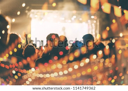 Concert crowd background