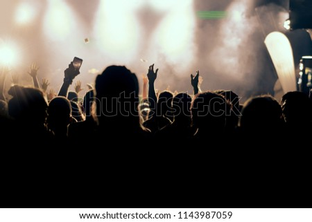 Concert crowd background #1143987059