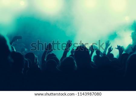Concert crowd background #1143987080