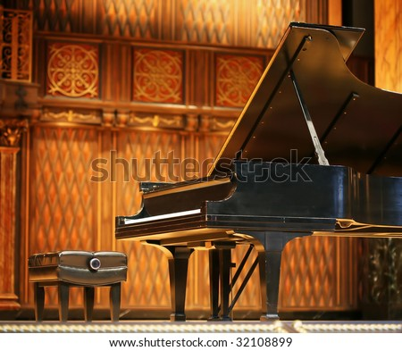Concert grand piano - stock photo
