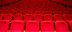 concert hall Red empty seats