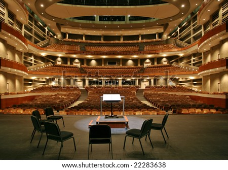 Concert hall view from stage