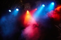 concert light show, Stage lights