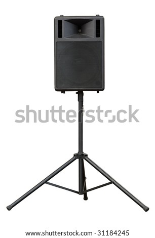 concert loudspeaker isolated - stock photo