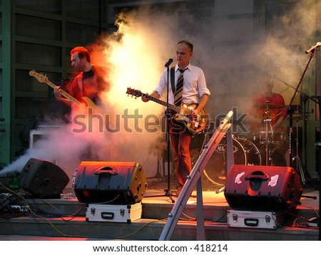 Concert of the band 'Brygada Kryzys' (Crisis Brigade) Zdjęcia stock ©
