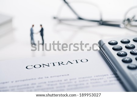 Conclusion of a contract with the spanish word \